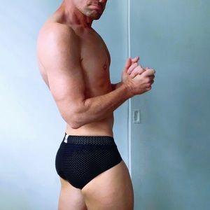 Underwear & Socks - Men's Mesh Athletic Briefs (black)